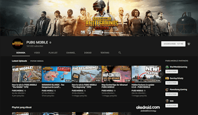 Youtube Channel resmi PUBG Mobile