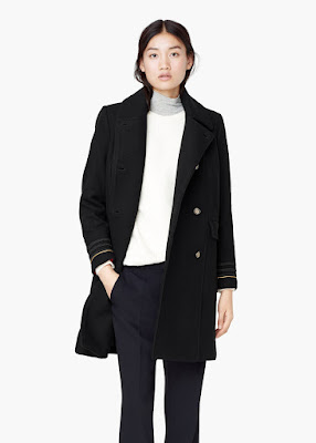 Mango Double Breasted Wool Coat