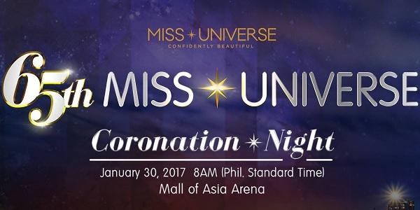 65th Miss Universe 2017 Coronation Night (REPLAY)