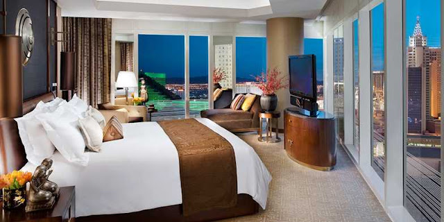 Waldorf Astoria Las Vegas is an award-winning resort in the heart of the Las Vegas Strip, featuring luxury accommodations, a pool area, and world-class spa.