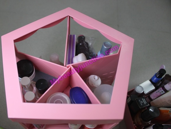 Makeup storage ideas: Review of Etude House Princess 360° rotating cosmetics organiser tabletop