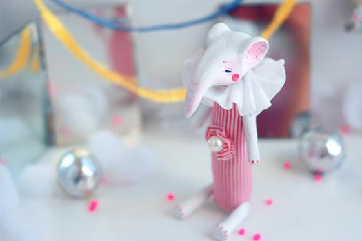 Elefante de porcelana fria