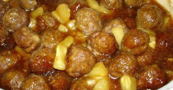 Susan Recipe: Pineapple Meatballs