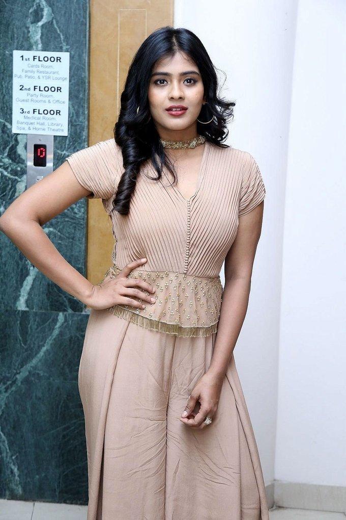 Heebah Patel at Santosham Awards 2017 Curtain Raiser Press Meet