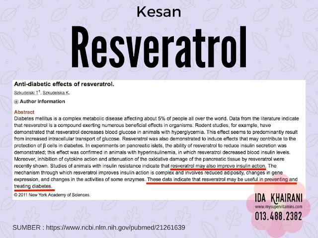 kajian vivix resveratrol pada kencing manis