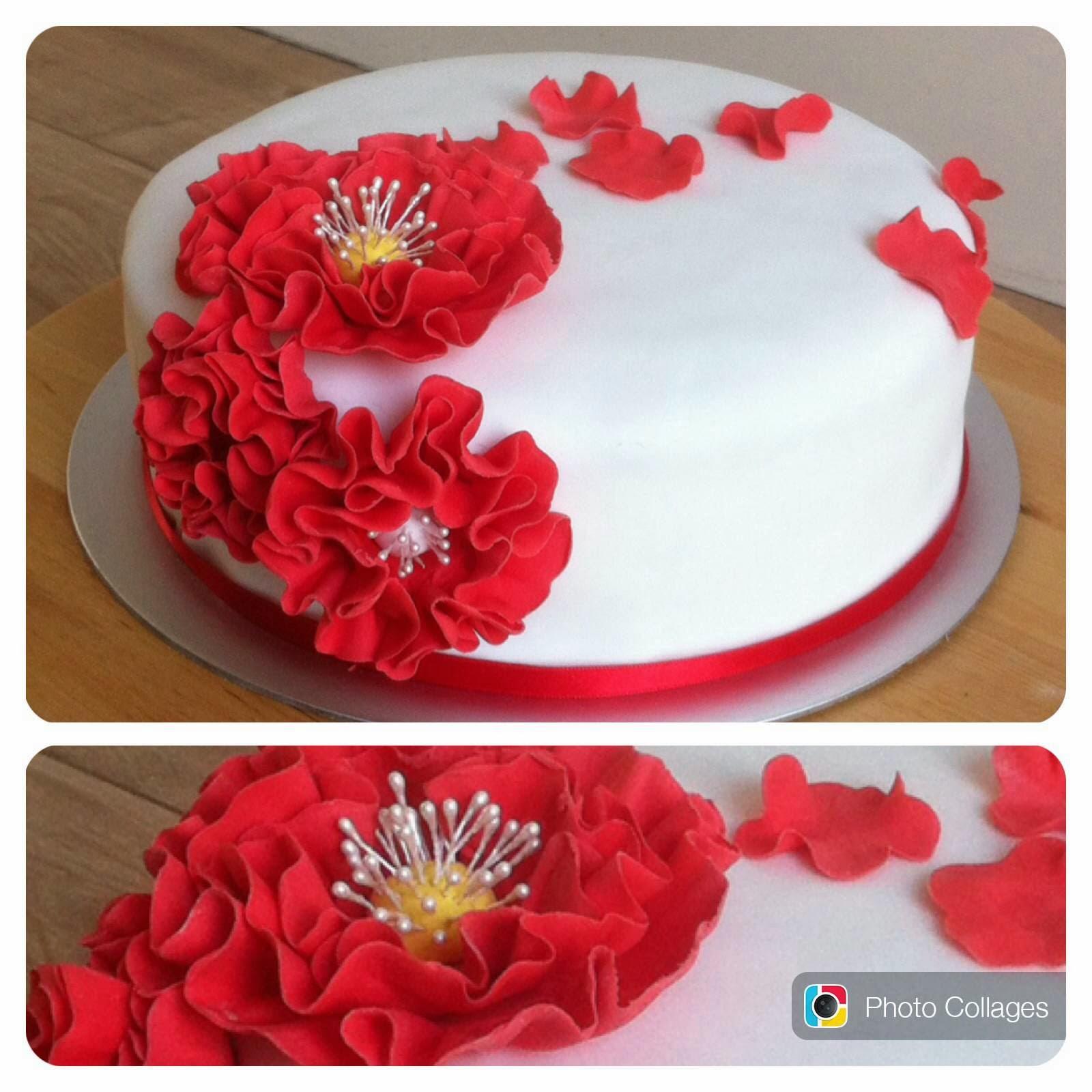 Verbazingwekkend Taarten van Elena en Marcela: Bloemen taart TN-19