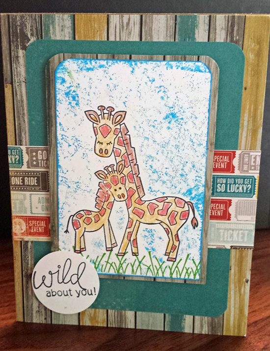 Inky Paws Winner - Giraffe card by Peggy | Newton's Nook Designs