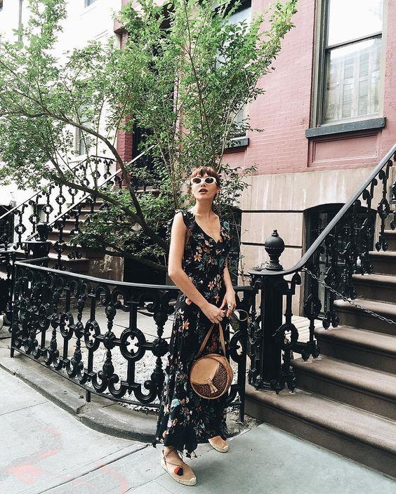#blog #estilo #style #look #outfit #vestido #dress #romanticdress #femme #streetstyle #estiloderua #NatalieSuarez #NatalieOffDuty