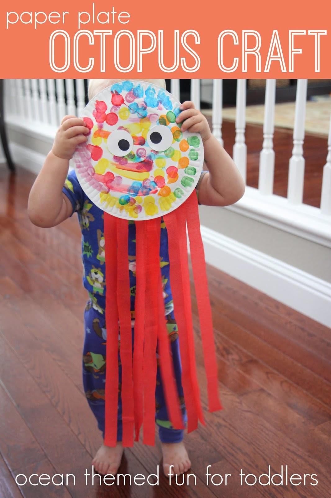 Octopus Paper Plate Craft Amp Free Paper Octopus Craft Idea