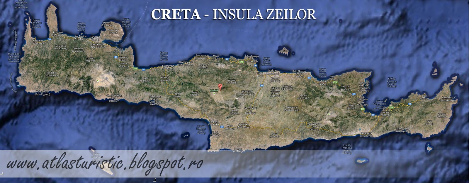 Atlas Turistic Creta Insula Zeilor
