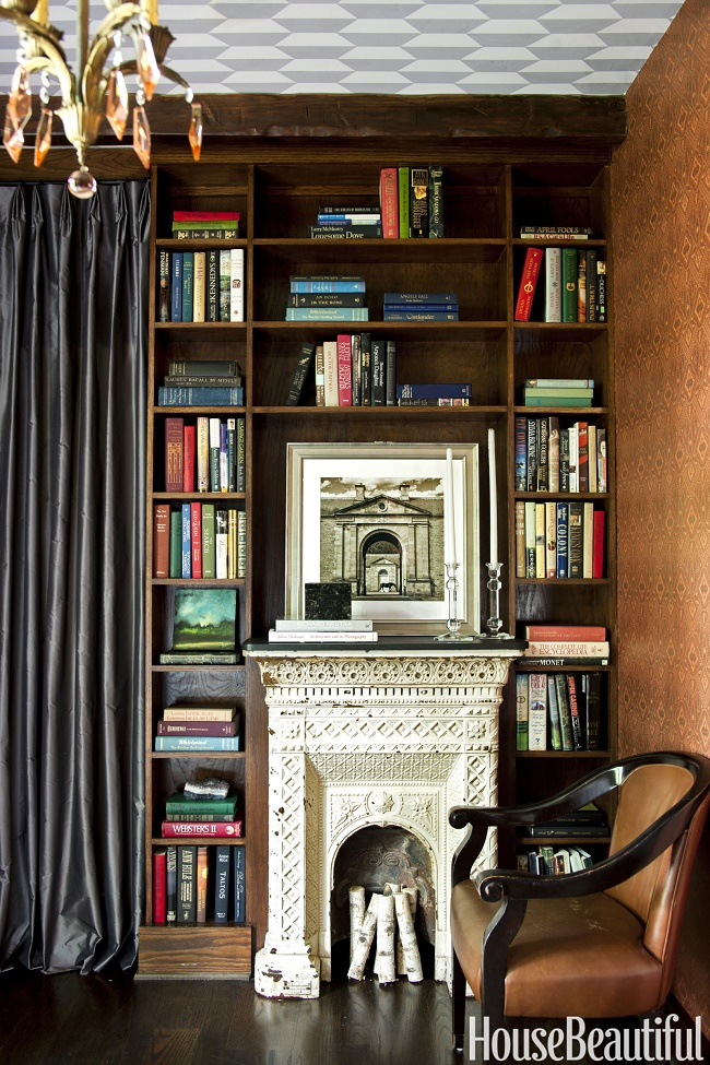 Beautiful Home Library Rooms: Mix And Chic: A Cozy And Charming Georgia Cottage