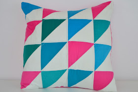 half square triangle pillow