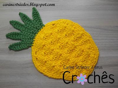 Carine Strieder - Crochet Designer  VIDEOAULA  Descanso de Panela em ... edc032280da