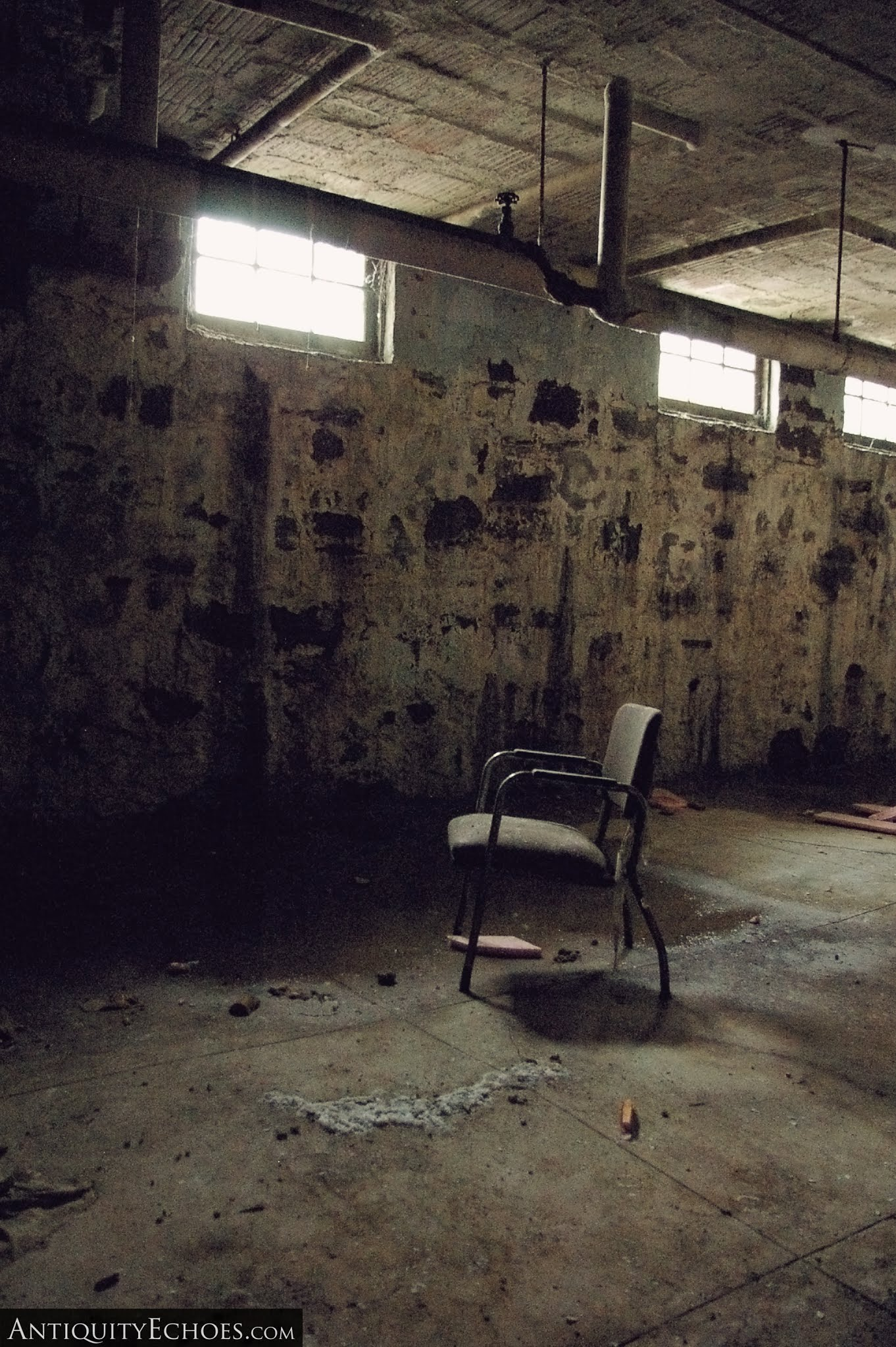 Overbrook Asylum - A Chair Rusts in the Tunnels