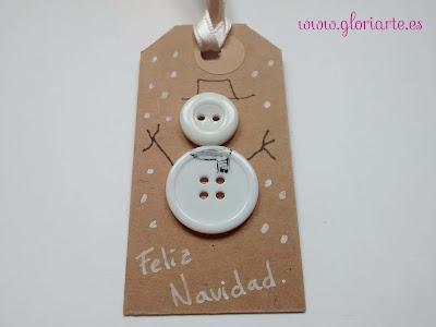 muñeco de nieve, etiqueta gloriarte