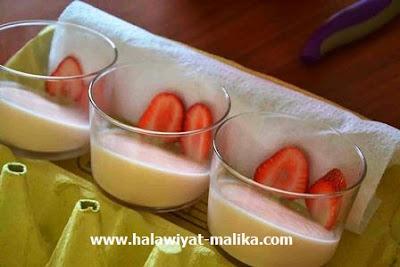 كاسات حلى الفراولة اللذيذة
