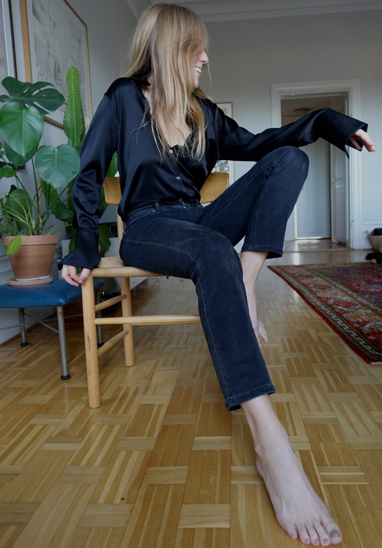 uudet alhaisemmat hinnat säästää jopa 80% los angeles Filippa K Tailored Silk Shirt and Alex Grey Wash Jeans | AW-SS