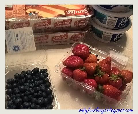 No Bake American Flag Strawberry Shortcake!