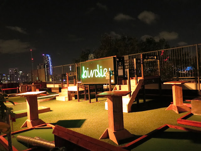 roof east, roof top golf, London, birdies