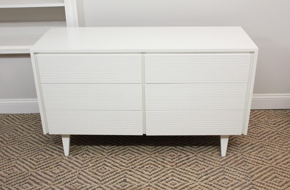 Blue Lamb Furnishings White Mid Century Dresser Credenza