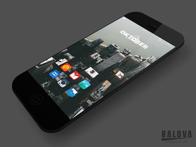 template hishoot flat desain iphone