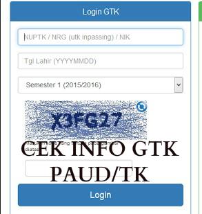 10 Poin Penting Mengenai Cek Info GTK Bagi Guru TK/PAUD