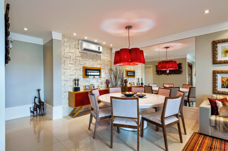Resultado de imagem para decoração de apartamento com vermelho
