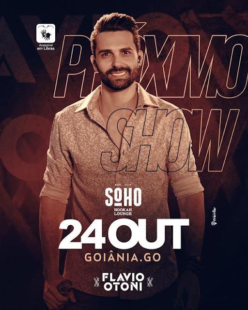 Show inclusivo do cantor Flavio Otoni vai agitar Goiânia nesta quarta-feira (24)