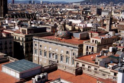 Generalitat de Catalunya des del campanar de la Basílica dels Sants Màrtirs Just i Pastor (Barcelona) per Teresa Grau Ros