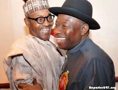 Jonathan hugging Buhari