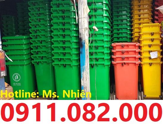 Giảm giá thùng rác 240 lít giá rẻ tại cần thơ- thùng rác nhựa nắp kín- 0911082000