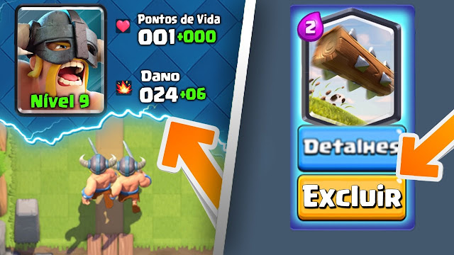Cartas Excluídas - Clash Royale