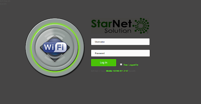 سٹار نیٹ لاگ ان پیجStar Net Mikrotik Login page.