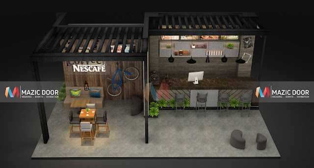 Mazicdoor Coffee Shop Stall Design 5