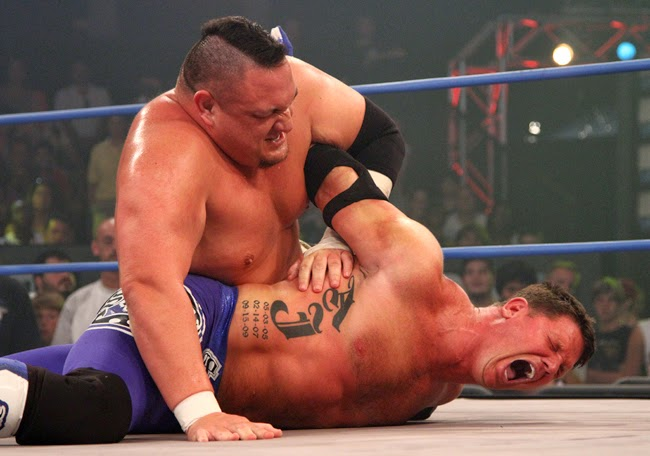 Samoa Joe vs. AJ Styles (from tnawrestling.com)