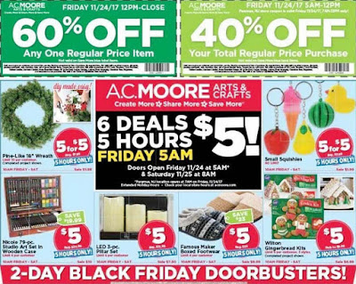A.C. Moore's Black Friday 2017 Ad