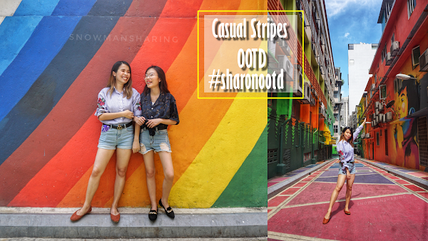 Casual Stripes Weekend Outfit @ Jalan Alor Rainbow Street