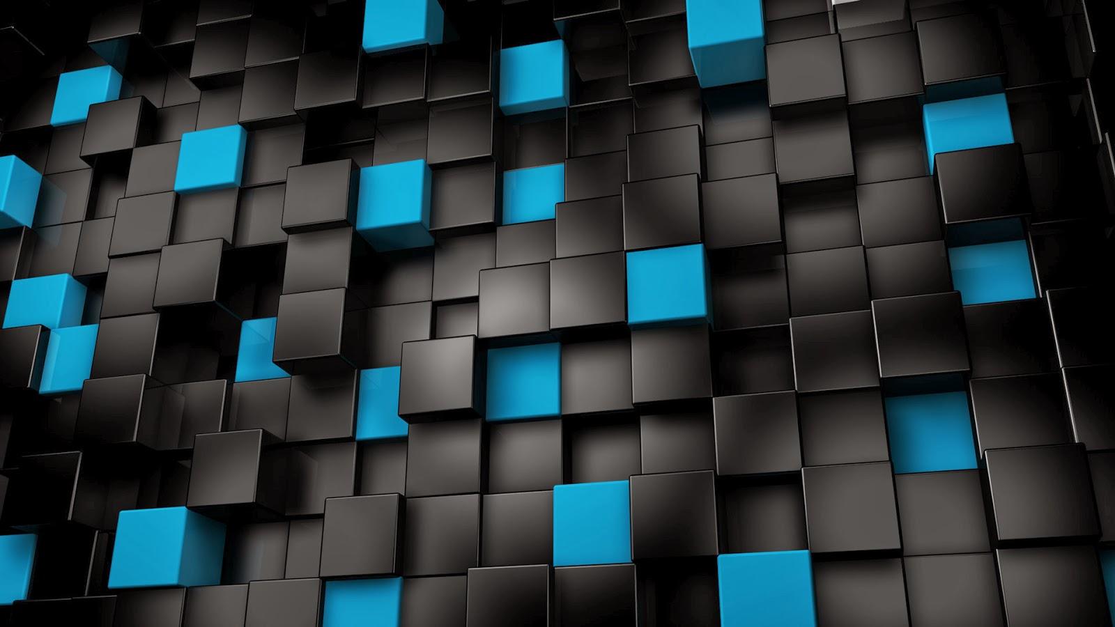 Fondo De Pantalla Abstracto Bolas Azules: Imagenes Hilandy: Fondo De Pantalla Abstracto Cubos Negros