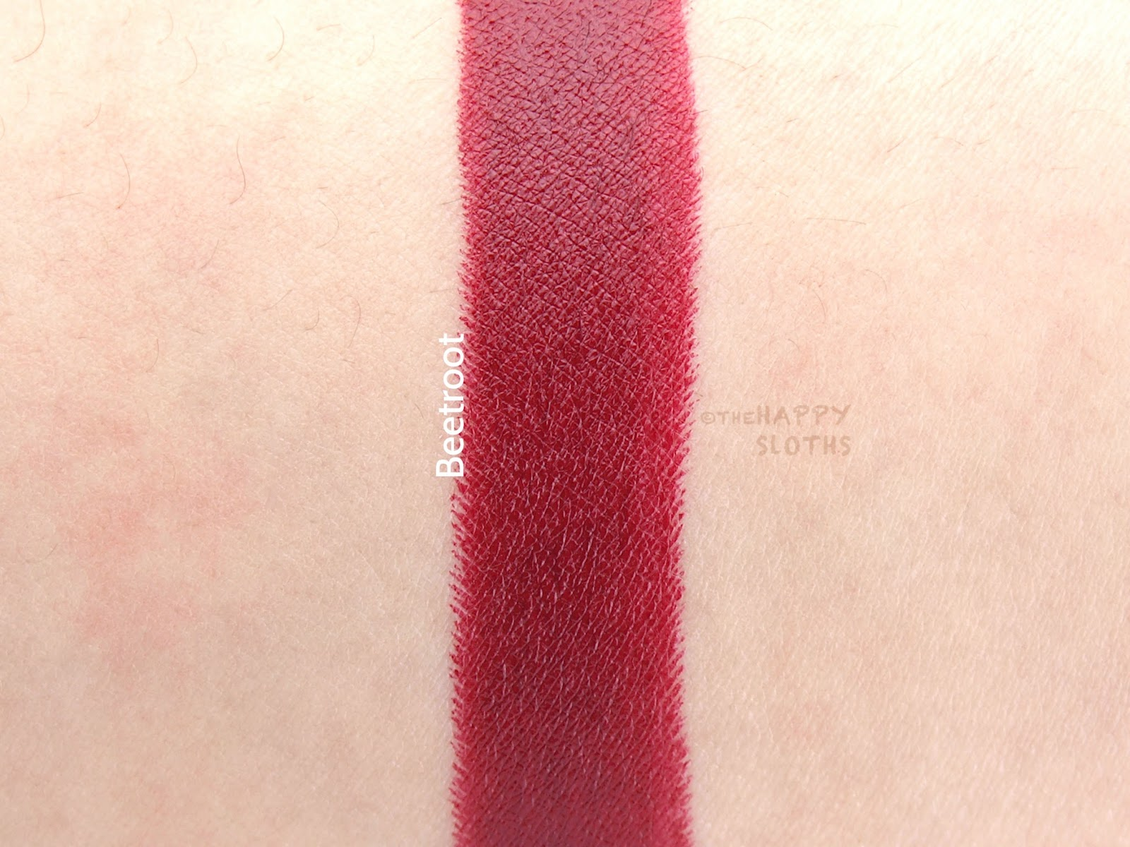 Bite Beetroot Swatches Review