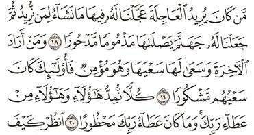 Tafsir Surat Al-Israa Ayat 16, 17, 18, 19, 20