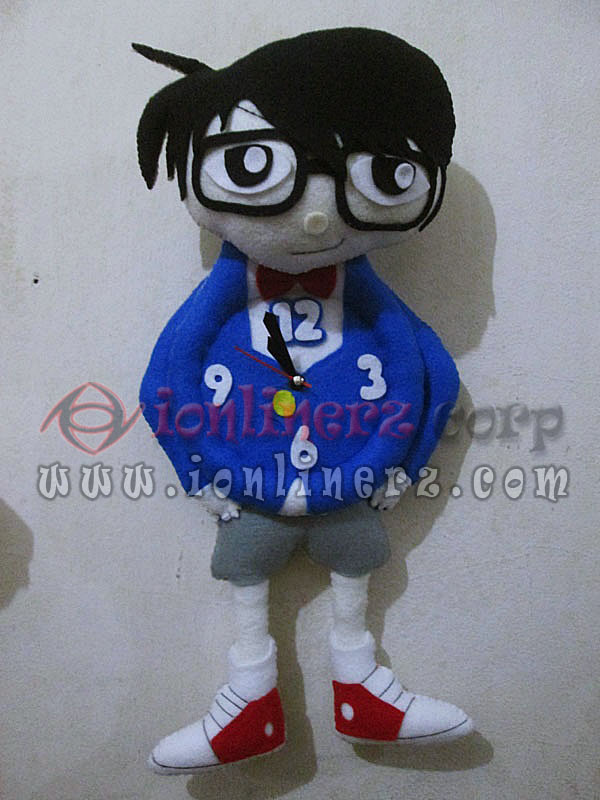 Jam Dinding Flanel Karakter Kartun Boneka Detective Conan
