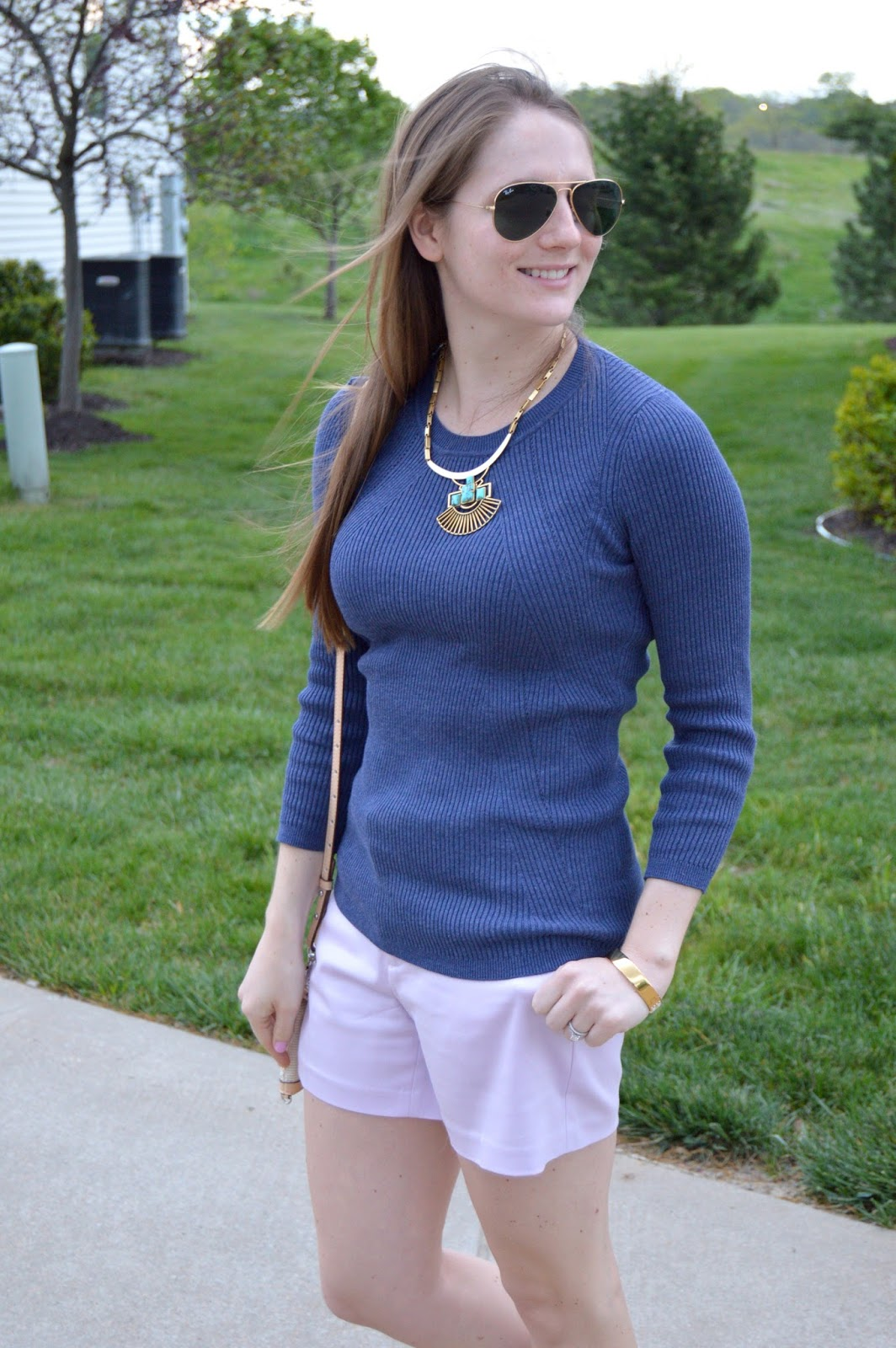spring outfits | a memory of us | lilac shorts | what to wear this spring | spring trends | what colors look good with lilac | spring outfit ideas