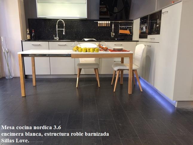 Mesas y sillas de cocina y comedor estilo nórdico | mesas de cocina ...