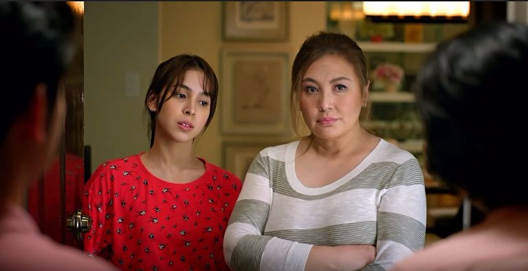 Julia Barretto as Yanny and Sharon Cuneta as Patty in 'Unexpectedly Yours'/Star Cinema
