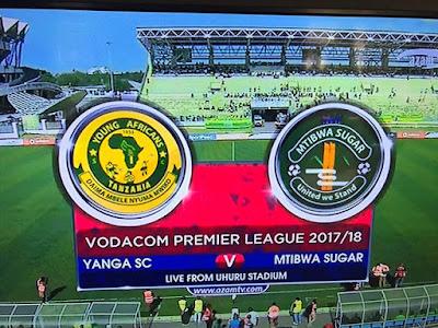 YANGA YATOKA SARE 0 - 0 NA MTIBWA SUGAR