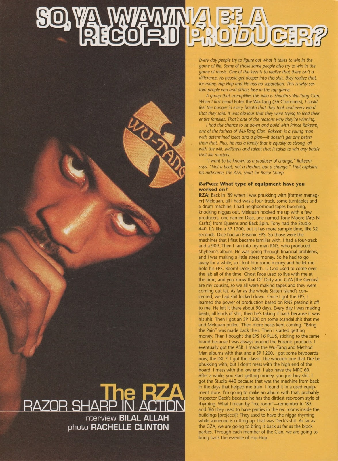 The RZA in Rap Pages (March, 1995)