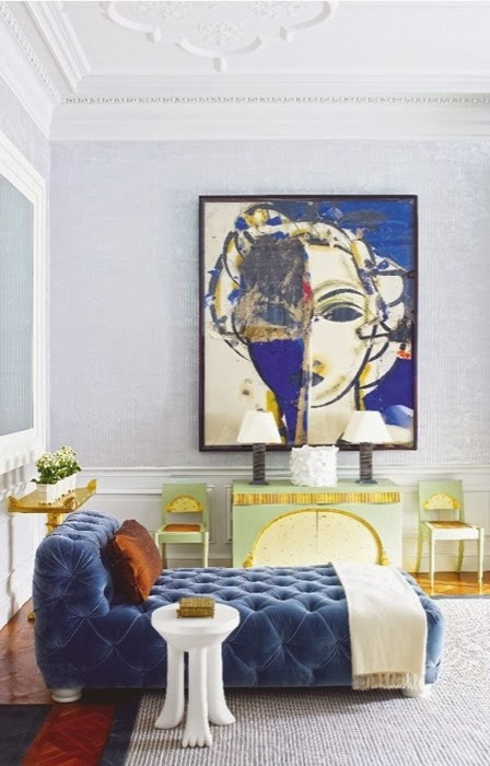 how to use oversized art in your home decor
