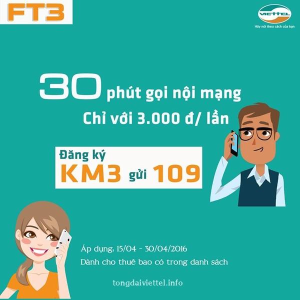 Cách đăng ký gói cước FT3 của Viettel