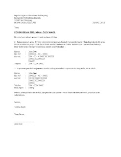 Contoh Surat Wakil Ambil Sijil Nikah Contoh Surat Terbaru