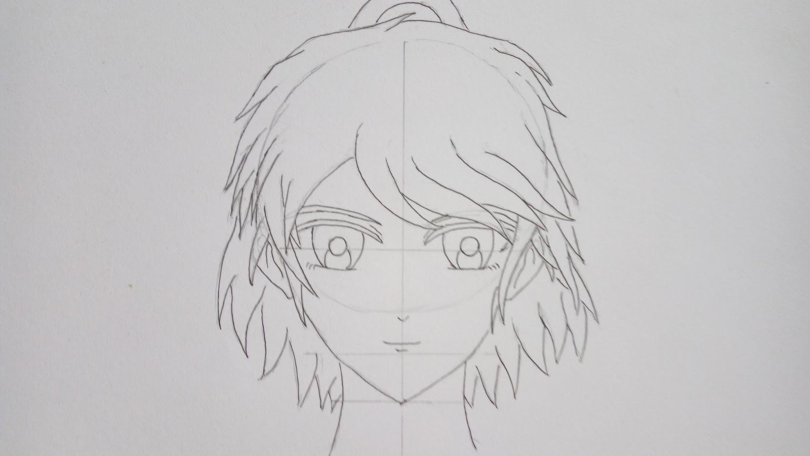 Tebalkan garis tapi bukan garis sketsa menggunakan drawing pen atau jika anda tidak mempunyai drawing pen anda bisa menggunakan pensil